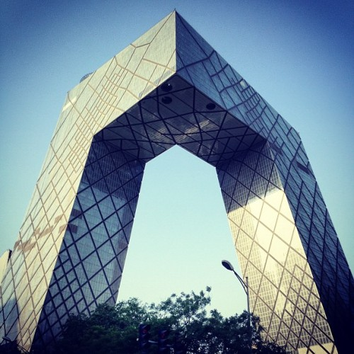 #CCTV building by #OMA in #Beijing #China, #architecture #archdaily #instagood #iphonesia #igdaily #Photooftheday (Taken with instagram)