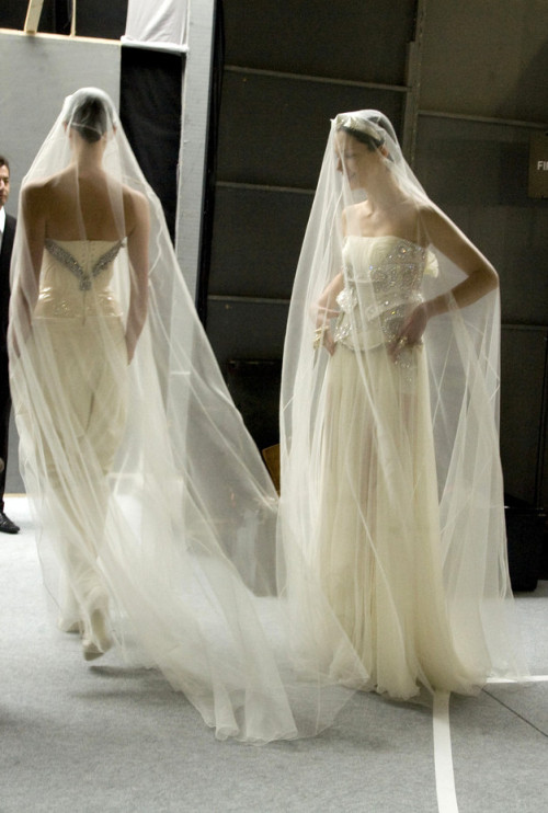 somethingvain:  Givenchy Haute Couture F/W 2009, backstage