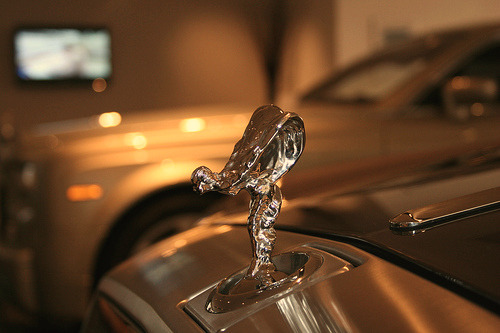 pistonsandpower:  everoutoftouch:  Cal… what is this?  It's a Rolls-Royce. Either a Ghost or a Phantom. Impossible to tell at that close a range. Thanks for asking!
