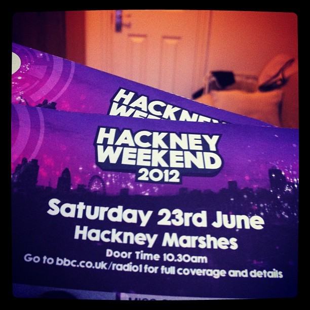 #hackney #bbc #london tickets have finally arrived. F yeah!  (Taken with instagram)