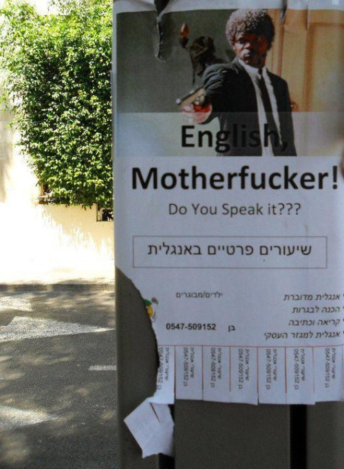 "funnyordie:  The Greatest Ad for an English Tutor Day 1: Learn how to say ""Does he look like a bitch?""  Jake loper"