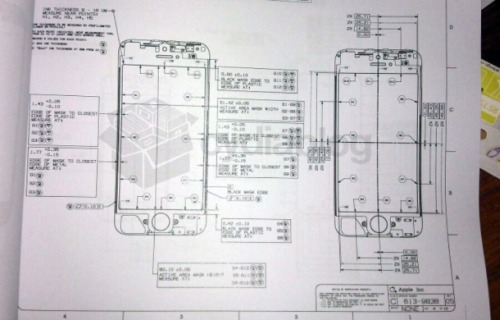 cnet:  Is this an iPhone 5 blueprint? A hard-copy leak appears to lend more credence to the rumor of a new iPhone with a 4-inch screen. Read more