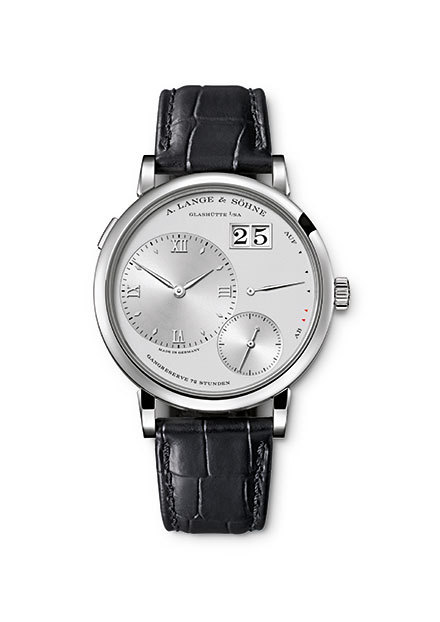 "A. LANGE & SÖHNE - Grand Lange 1 Lange 1 has been A. Lange & Söhne's most iconic collection since its launch in 1994. Director of Press and Public Relations Arnd Einhord said, ""With only 18 years on the market, Lange 1 is one of the youngest icon in the long history of watmaking."" Grand Lange 1 debuts as a larger model with the new Calibre L095.1. It displays the hours, minutes and seconds, as well as the outsize date (even larger than the classic Lange 1) and 72-hour power reserve without any overlap, offering greater legibility. Grand Lange 1 is only 8.8 millimetres thick. The time can be set with just the crown, where one push will also let you correct the date."
