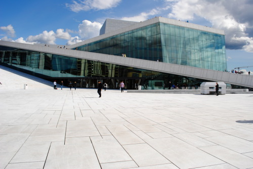 Dazzled by the sleek modernity of the Oslo Opera House? Scaling the roof of this cleverly pedestrian-friendly structure, you are next hit with a vista of the verdant Norwegian fjord in its unbottled luminosity. Consider that the place offers free bathrooms in a city that obdurately shuns the concept, and you are practically tethered.