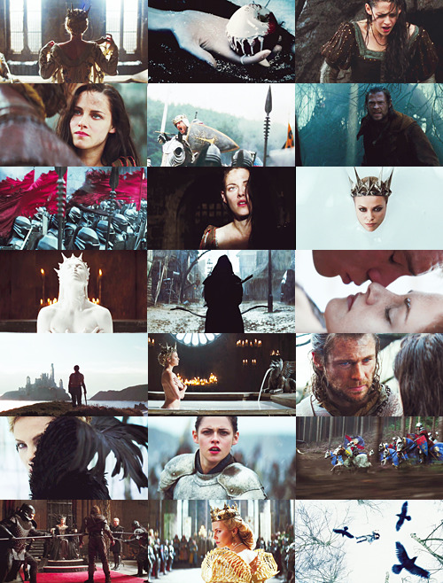 daenerysnow:  Movies to be Excited About → Snow White and the Huntsman • June 3, 2012  Lips red as blood. Hair black as night. Bring me your heart my dear, dear Snow White.