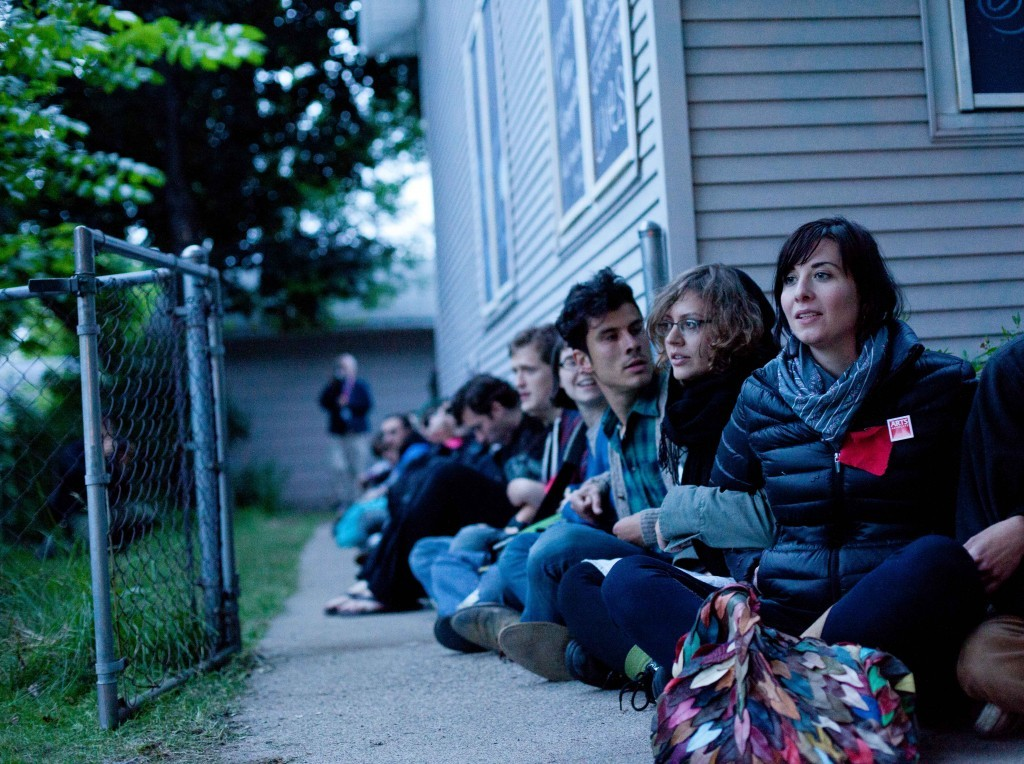 "thepeoplesrecord:  14 Occupiers arrested trying to save a house from foreclosure May 31, 2012 In the latest incident in an ongoing showdown, officers violently arrested occupiers peacefully defending the Cruz family home from foreclosure Wednesday night. Fourteen were arrested defending 4044 Cedar Avenue Wednesday night, only 24 hours after Mayor Rybak's office, facing mounting public pressure, issued a news release declaring ""the City is not in the foreclosure business."" In the statement, City Attorney Susan Segal is quoted saying ""The City plays a limited role to protect public safety. The property is the responsibility of its owner… In this case, the City has fulfilled its legal obligation to secure the property.""  ""We hoped Mayor Rybak would stick to his word, but today's police violence shows Rybak and his police protect and serve the banks, not our communities,"" said Martha Ockenfels-Martinez, an organizer with Occupy Homes MN and representative of the Cruz family. The 14 arrests Wednesday at the Cruz home bring this week's total to 23 during 5 eviction attempts. Source"