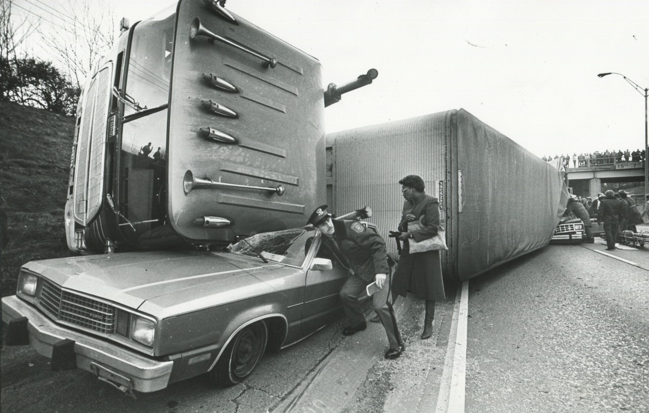1985, Auto Accident Detroit