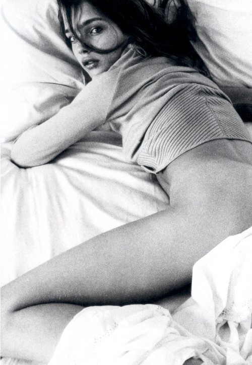 """Day For Night"", Natalia Vodianova photographed by Steven Meisel in Vogue Italia December 2002"