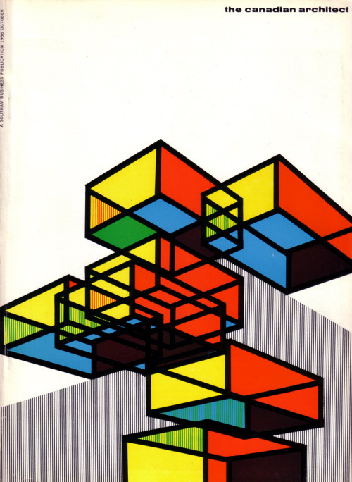 iconoclassic:  The Canadian architect October 1966 vol. 11 no. 10. Cover design by Laszlo Buday (by oliver.tomas)