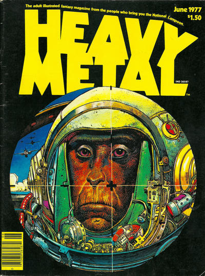 Heavy Metal cover by Moebius. 1977