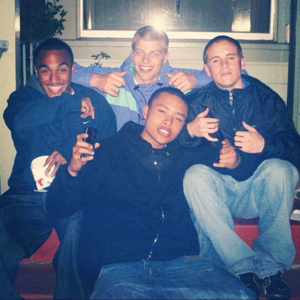 Some young Hambots gettin Zooted for the 1st time #TBT @goosiebadass @datboydiddy @rybread6 @fe_double_s