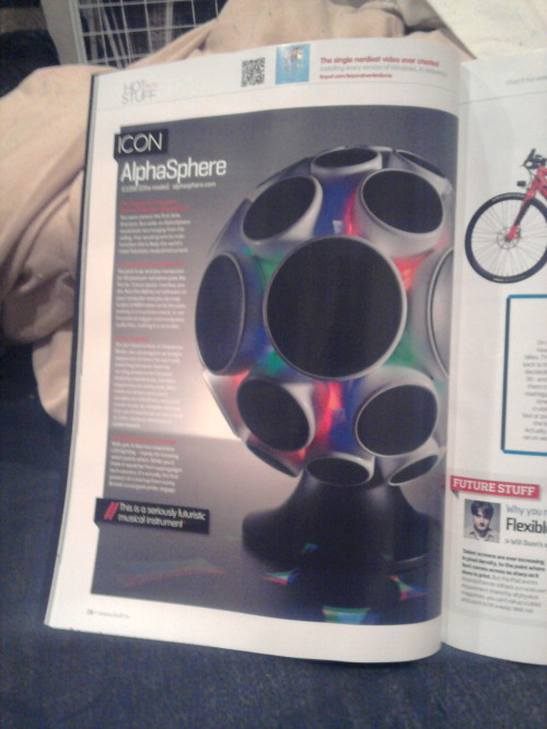 AlphaSphere in this months edition of Stuff Magazine.
