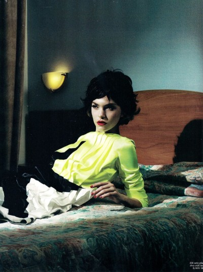 """Live Bed Show"", Arizona Muse photographed by Willy Vanderperre in Love #5"