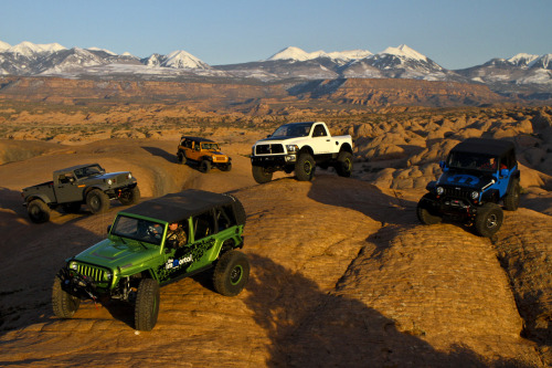 fuckyeahconceptcarz:  2010 Moab Easter Safari    - Jeep Wrangler The General    - Jeep Wrangler J7    - Jeep Nukizer 715    - Jeep Wrangler Mopar ImMortal    - Dodge Ram Power Wagon