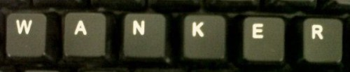 I just looked down at my keyboard to see if they were in that order…
