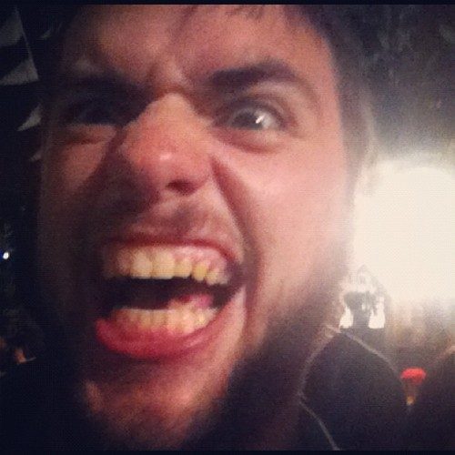 mumfordandsonsblog:  Winston Marshall of Mumford & Sons after their gig in Cardiff on 30th May 2012. Photo courtesy of Dan Evans.
