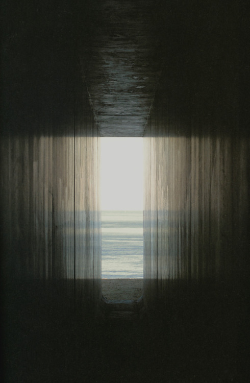 a photo for the ghosts [they will understand]. bartleby-company:  Hiroshi Sugimoto, View from the passage toward the exit. Thank you, 3wings.