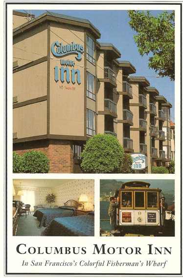 """The Columbus Motor Inn offers the discriminating traveller superior quality, affordable comfort, and personal service in a location convenient to such attractions as Fisherman's Wharf, North Beach, Chinatown, and Union Square. 1075 Columbus Avenue, San Francisco, CA, 94133, (415) 885-1492. www.ColumbusMotorInn.com."" Did you catch that? (415) 885-1492. Well played, Columbus Motor Inn."