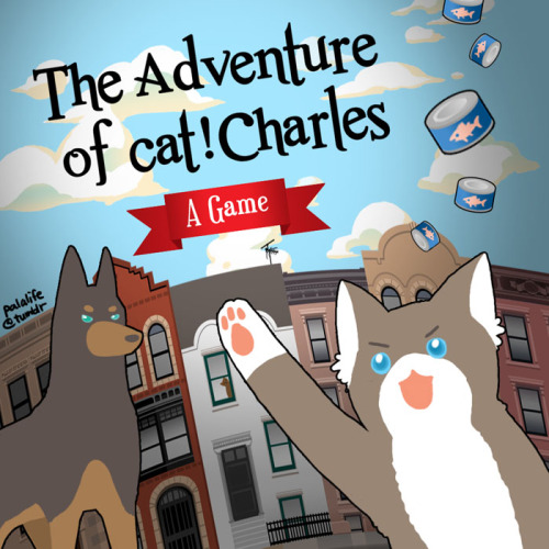 palalife:  The Adventure of cat!Charles: A game is now online!  It is a html 5 game, so as long as you have a pretty up-to-date browser it should run! This is just a simple and quick platform game, used to test out how the game engine Construct 2 works because I was curious, so nothing fancy. There might be some bugs in it that are not my fault (such as it might have sound effects, but might not :/)  I still have other ideas (such as having cat!Charles riding on dog!Erik and there are some tasks only they can accomplish together, etc) but this is it for now! I need to move on to other projects, but I might come back for 2nd level or something ;)  Hope you have a little fun with this ;)  Ah depression abated because this is so blumming cute I'll be playing this all day. Thank you Pala for always doing such amazing things like this, you're such an inspiration luv.