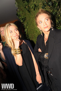 womensweardaily:  Ashley and Mary-Kate Olsen at the Superga launch party