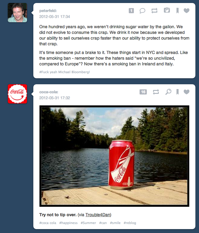 evangotlib:  With Tumblr now accepting ads dashboard coincidences are going to get a lot more interesting.