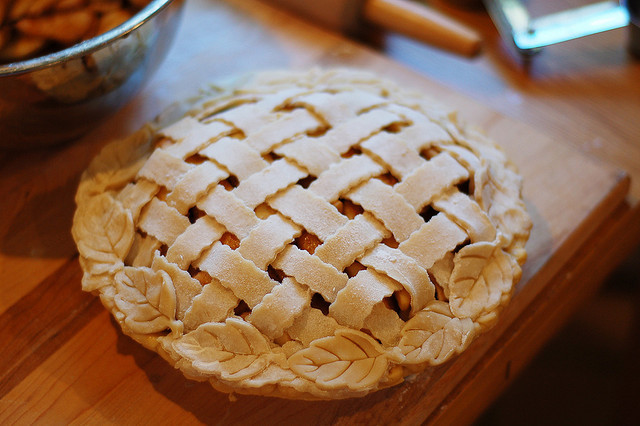 eternityonwings:  Jeremy's lattice top thankgiving pie by jeremytoday on Flickr.