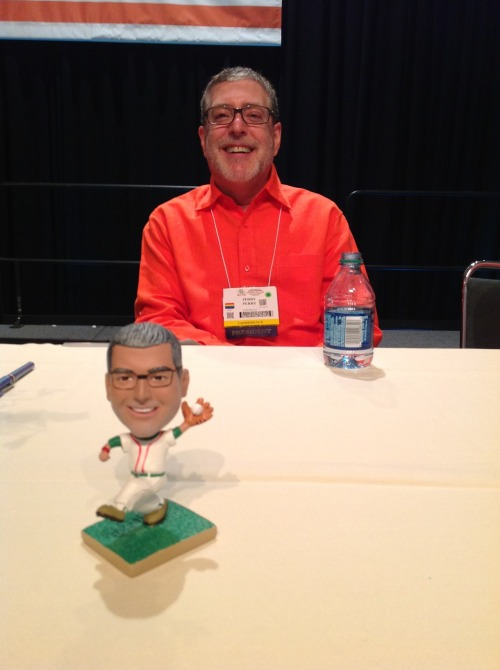 A boy and his bobble head!  Photo courtesy of the terrific Gary Freiburger.