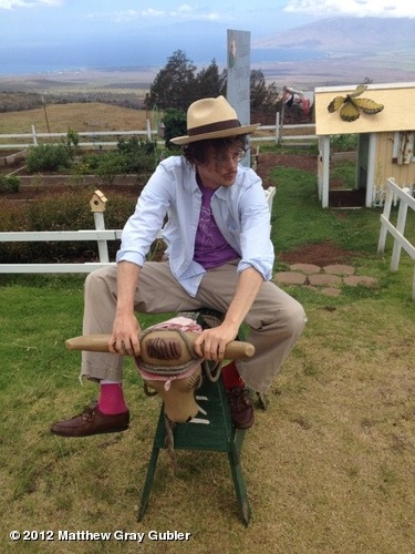 gublernation:  traditional Hawaiian cowboy View more Matthew Gray Gubler on WhoSay
