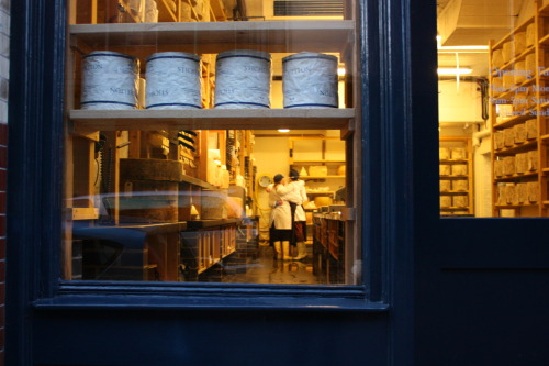 I forgot to share this picture from my London trip. I caught the cheesemongers at Neal's Yard Dairy in a full-on group hug. It's not the best photo, but it was really nice to witness.