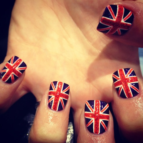 wahnails:  GLITTER UNION JACK   Love