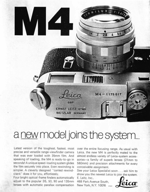 fromand:  leica m4 ad [september 1967, popular photography]