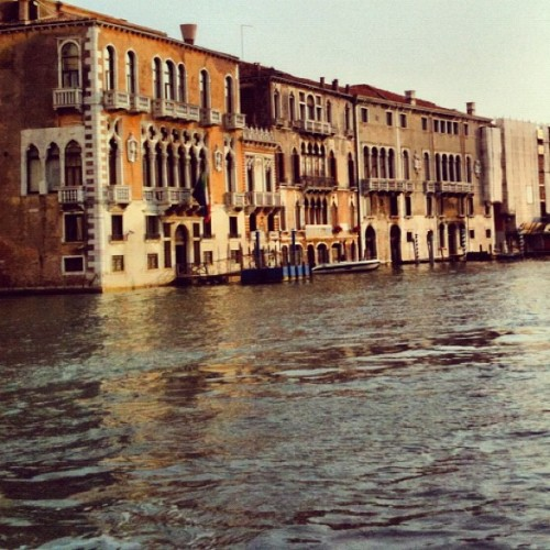 Late afternoon #Venice view from a No. 1 vaporetto (Taken with Instagram at Canal Grande)