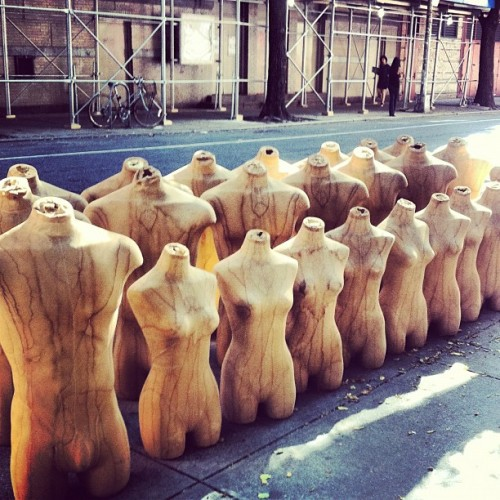 My audience while vintage shopping. (Taken with Instagram at Nolita)