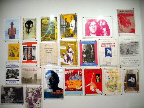 pictureboxinc:  Installation of Kippenberger's posters at Luhring Augustine