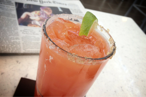 Blood Orange Margarita at Lounge 5280 @ Denver International Airport