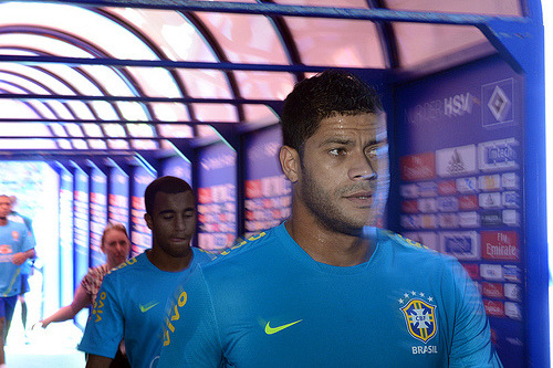 thebeautifulgameblog:  Hulk pictured before Brazl play Denmark in a friendly match. Credit: Ryu Voelkel