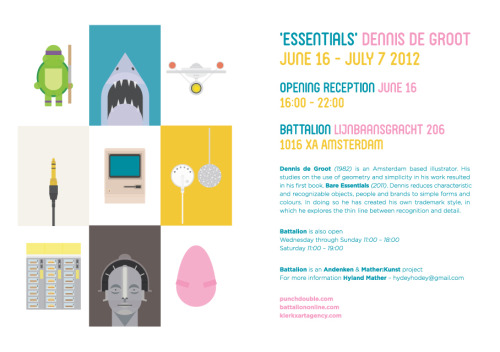 My new exhibition opens at Battalion (Amsterdam) on June 16th!  More information can be found here.