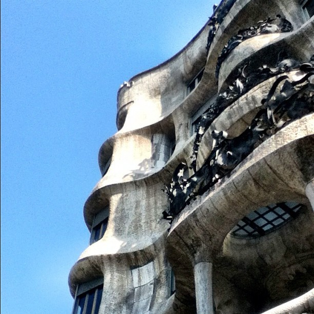 La Pedrera by Gaudi. #barcelona #spain #architecture  (Taken with instagram)