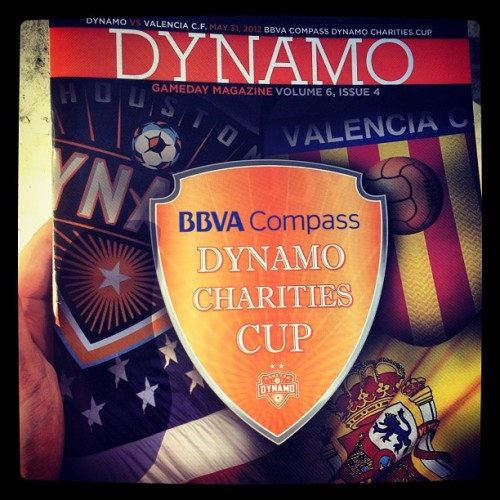 Dynamo vs Valencia C.F. Can't wait to see what the 3rd ranked Spanish team can do. #Dynamo #soccer #Valencia #ValenciaCF #spanish #ligabbva #bbva #futbol #houston #charity  (Taken with instagram)