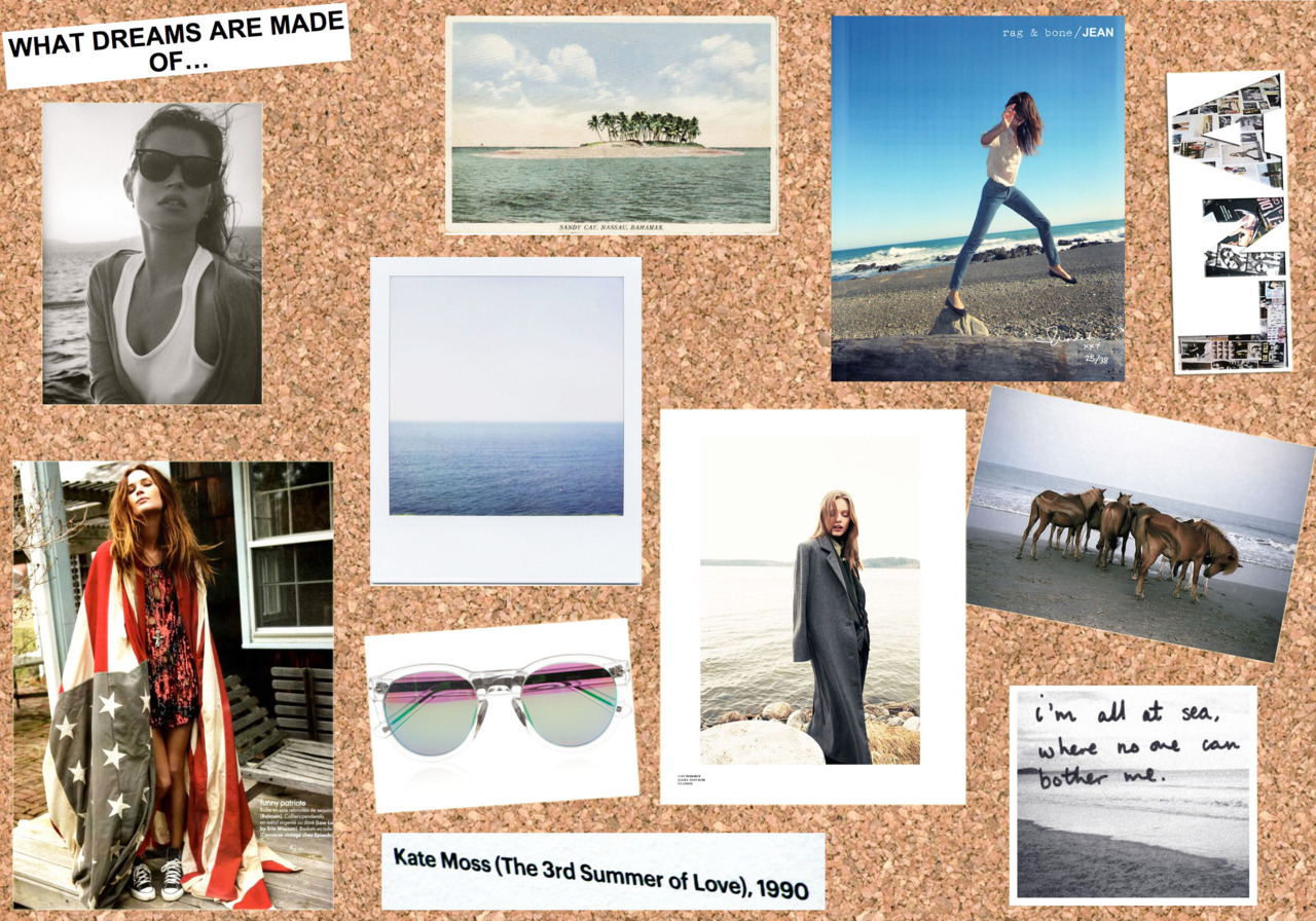 Inspiration board: California summer is upon us. Let's go to the beach. Shall we?
