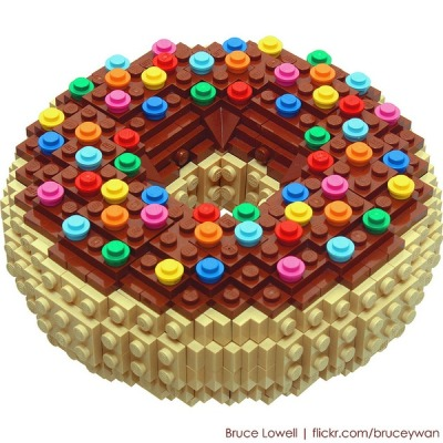 modcloth:  If only this Lego donut was edible!