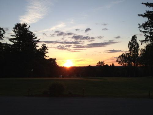A fitting sunset for the 2011-2012 year at The Winchendon School.  The new victory bell is ringing in the distance, students are prepping for one final exam in the morning, and by this time tomorrow many teary goodbyes will have been shared.