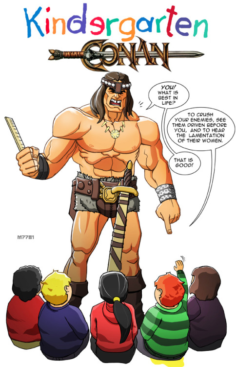 Kindergarten Conan by Marco d'Alfonso  Tribute to Ernie Chan