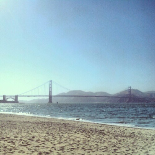 Finally some time at the beach! #SanFrancisco #ChrissyField #Summer #Sun #Beach #GoldenGateBridge (Taken with Instagram at Chrissy Field)