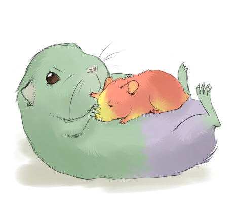 silverpancake:  Science hamsters?! :? Though Brucie is a guinea pig… kkhaaaa =»> i have no idea what i am doing