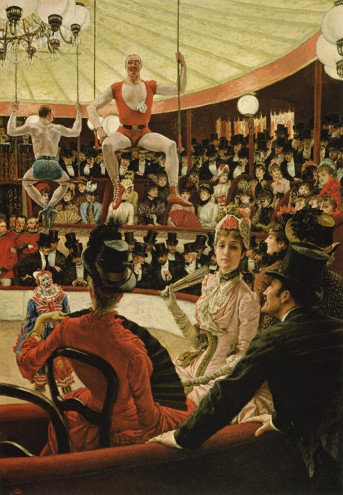 artaddictsanonymous:  James Tissot, Women of Paris: The Circus Lover, 1885.