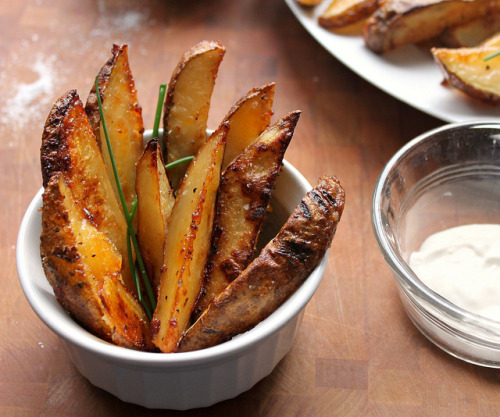 fattributes:  Baked Potato Wedges with Italian Dressing