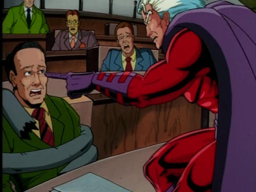 Magneto hates Republicans Is it just me or is it that the politician looks vaguely like Rick Santorum?