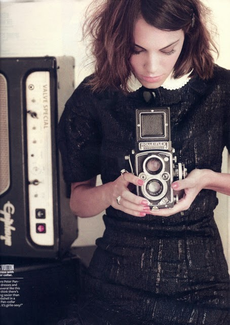 alexandraed:  thecameralover:  Alexa Chung is a camera lover.  She's gorgeous.