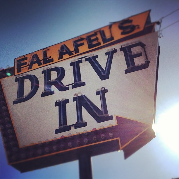 #sanjose #fastfood #sign #california  (Taken with Instagram at Falafel's Drive-In)